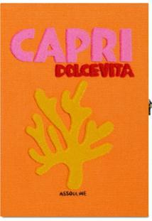 Assouline Capri Book Clutch - Laranja