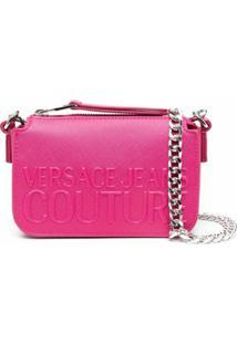 Versace Jeans Couture Logo-Embossed Shoulder Bag - Rosa