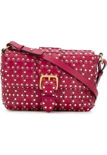 Red Valentino Bolsa 'Flower Puzzle' De Couro - Rosa