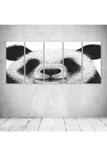 Quadro Decorativo - Pen Panda Art - Composto De 5 Quadros - Multicolorido - Dafiti