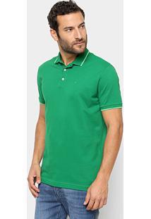 Camisa Polo Ellus Frisos Classic Masculina - Masculino-Verde