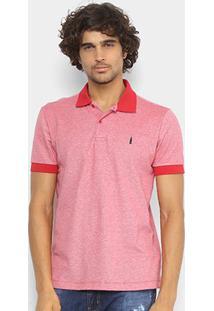 Camisa Polo Coca-Cola Mescla Color Masculina - Masculino-Vermelho