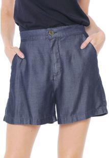 Bermuda Jeans Enna Reta Alfaiataria Azul-Marinho