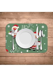Jogo Americano De Natal Merry Christmas Ho Ho Ho Kit Com 2 Pçs