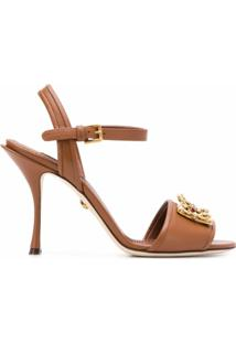 Dolce & Gabbana Cinto Com Aplicação De Logo - Marrom