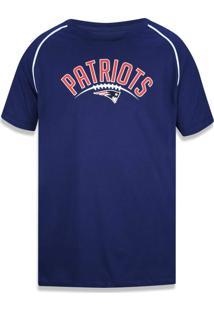 Camiseta New Era Basico New England Patriots Marinho