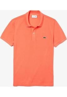 Camisa Polo Lacoste Slim Fit Masculina - Masculino-Laranja Claro