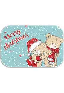 Tapete Love Decor Decorativo Merry Christmas Turquesa