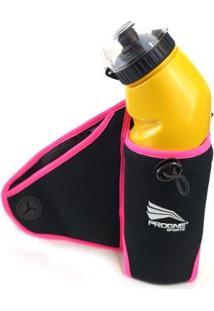 Cinto Pochete De Hidratação - Unissex-Preto+Rosa