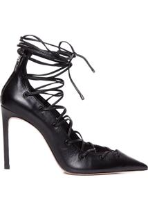 Scarpin Lace-Up Fetish - Preto