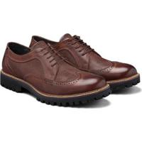 09fb6bd95 Sapato Casual Couro Élie Brogue Oxford Tadmor Masculino - Masculino-Café