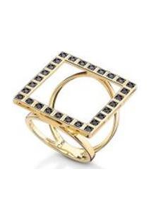 Anel Cosmopolitan Square Black Oa Com Diamante Black - 17