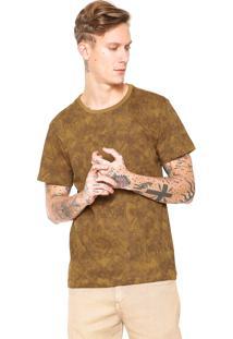 Camiseta Fiveblu Manga Curta Estampada Caramelo