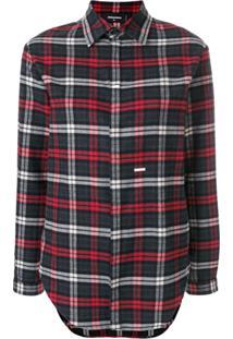 69ea4caa46 ... Dsquared2 Checked Long Sleeve Shirt - Cinza