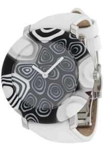 Yunik Relógio 36Mm Redondo Pequeno - Branco