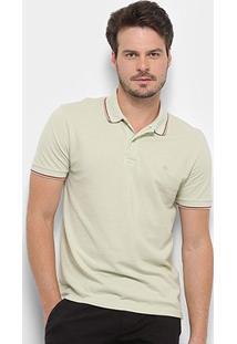 Camisa Polo Forum Básica Masculina - Masculino-Verde