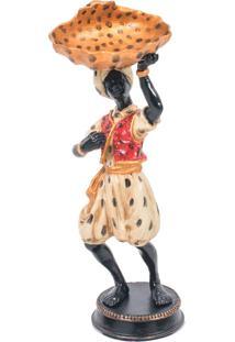 Escultura Decorativa De Bronze África