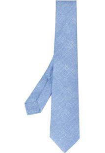 Kiton Gravata De Seda - Azul