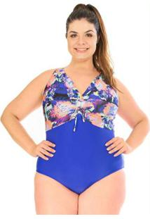 Maiô Ajustavel Plus Size Acqua Rosa W Blue