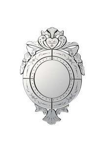 Espelho Veneziano- Pashmina- Redondo- Branco