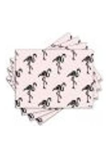 Jogo Americano - Flamingos Com 4 Peças - 1029Jo