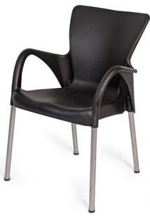 Cadeira Armenia Em Polipropileno Preto Com Pes Aluminio - 47941 - Sun House