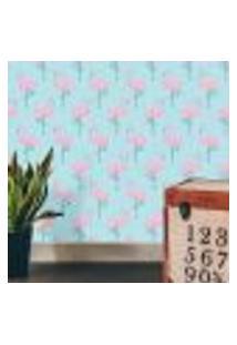 Papel De Parede Flamingous