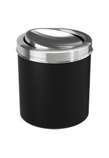 Lixeira Com Tampa Basculante Inox 19,5 X 20 X 22,4 Cm 5,4 L Preto Coza Preto