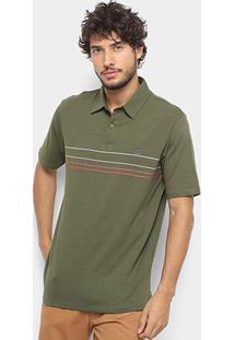 Camisa Polo Hang Loose Ocean Masculina - Masculino-Verde Militar