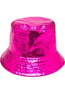 Karl Lagerfeld Chapéu Bucket Metálico - Rosa