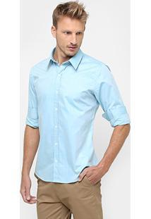 Camisa Sergio K Regular Fit Tecido Brilho - Masculino