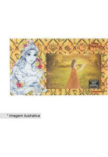 Porta Retrato Bela® - Amarelo & Branco - 23,5X20Cm