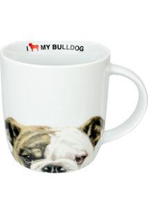 Caneca De Cerâmica I Love My Bulldog 340 Ml 18176