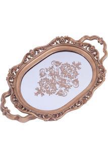 Bandeja Clássica Espelho Oval 4X39X25 Cm Trevisan Concept