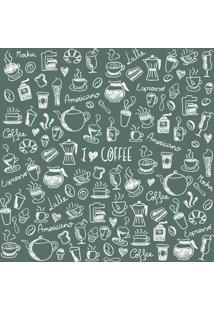 Papel De Parede Adesivo Coffe Espresso (2,50M X 0,58M)
