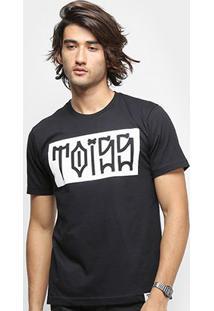 Camiseta Toiss Pixo - Feminino-Preto