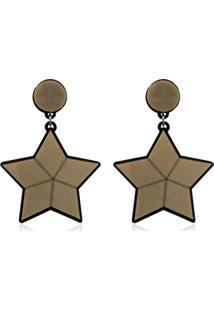 Brinco Le Diamond Estrela Bege