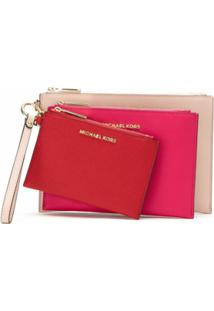 Michael Michael Kors Kit 3 Carteiras Jet Set Travel - Estampado