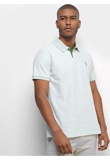 Camisa Polo Aleatory Basic Color Masculina - Masculino-Verde Claro
