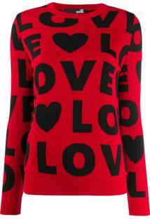 Love Moschino Suéter Com Padronagem Love - Vermelho