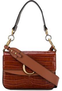 Chloé Small C Double Carry Bag - Marrom