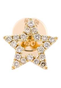 Rosa De La Cruz Brincos De Ouro Com Diamantes - Metálico