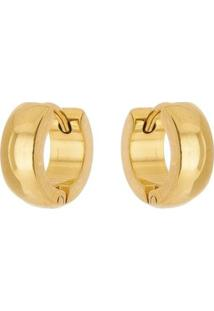 Brinco Argola De Aço Inox Tudo Joias Dourado - Unissex-Dourado