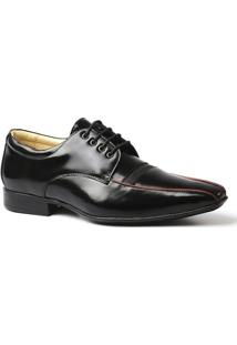 Sapato Social Masculino 3048 Em Couro Verniz Doctor Shoes - Masculino-Preto