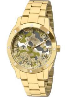 Relógio Allora Feminino Camoflower Al2036Ffr/4D - Al2036Ffr/4D - Feminino-Dourado