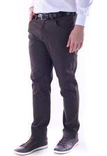 Calça 3033 Sarja Verde Musgo Traymon Modelagem Skinny