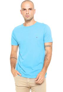 Camiseta Aramis Regular Fit Bordado Azul