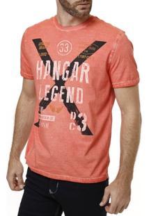 Camiseta Manga Curta Masculina Laranja - Masculino