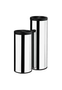 Coletor De Copos Preto - Decorline Lixeiras 20 X 60 Cm Preto