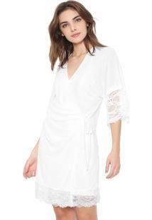 Robe Morena Rosa Renda Branco